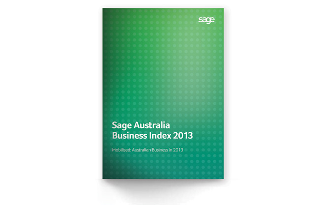 Sage Australia Business Index 2013 cover