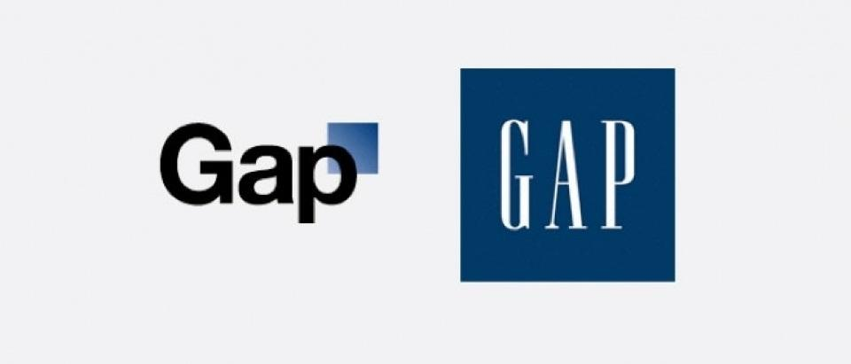 New gap logo fails
