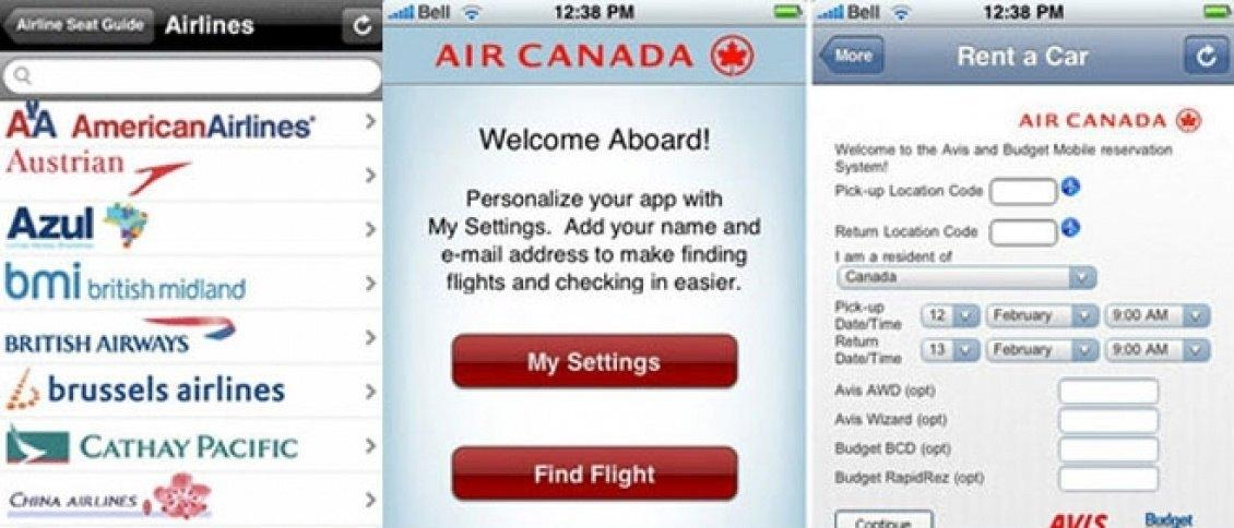 Airline iPhone apps