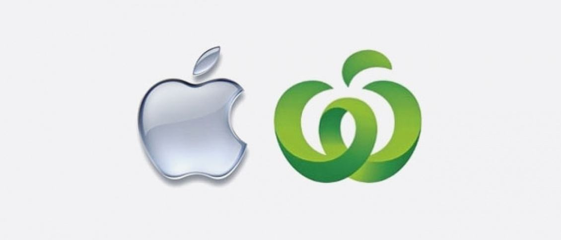 Apple takes on Woolies over new logo