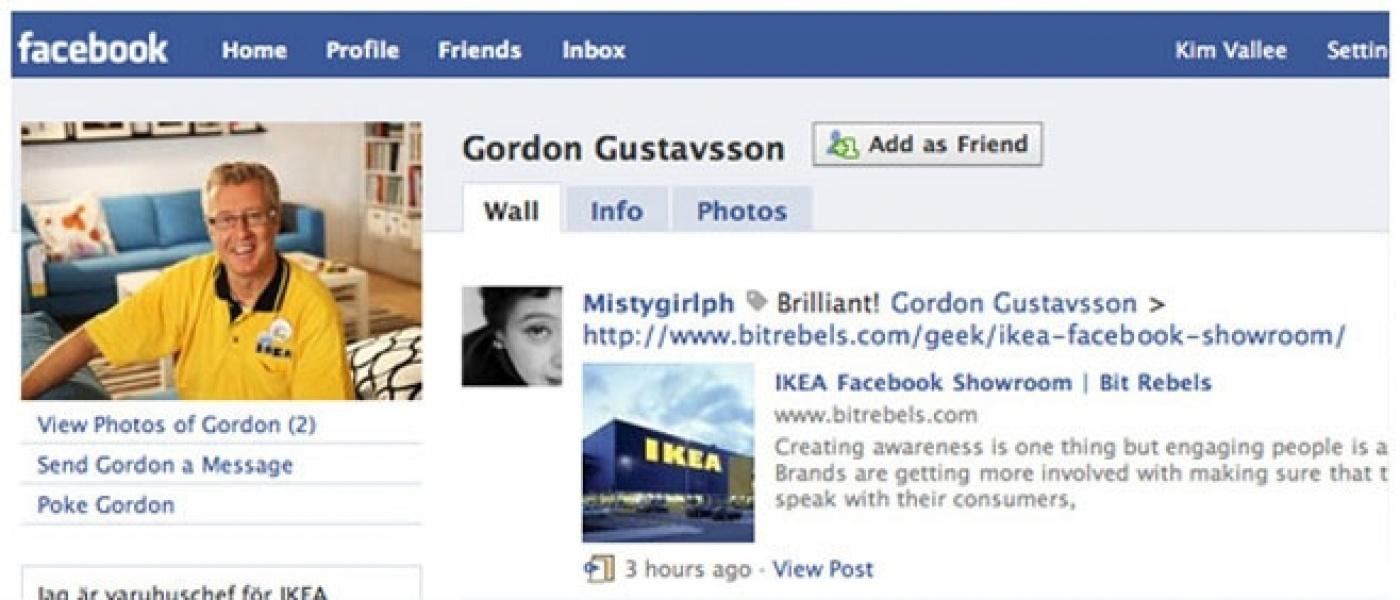 Image of IKEA's Facebook campaign