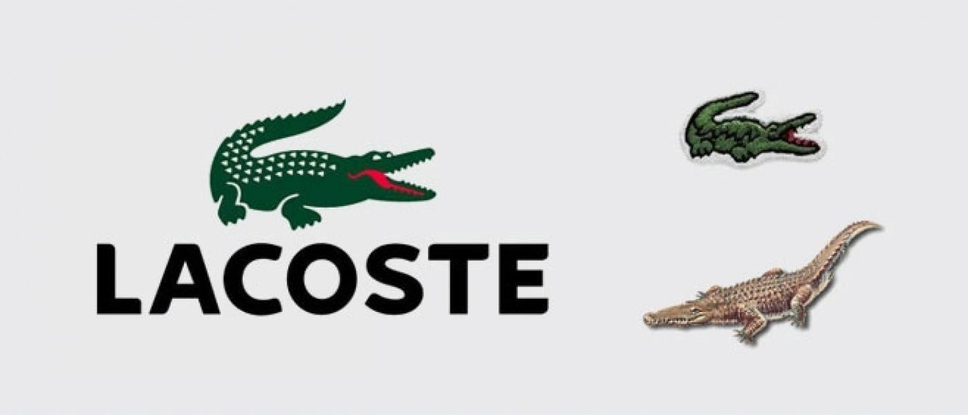 Lacoste logo and the Lacoste crocodile