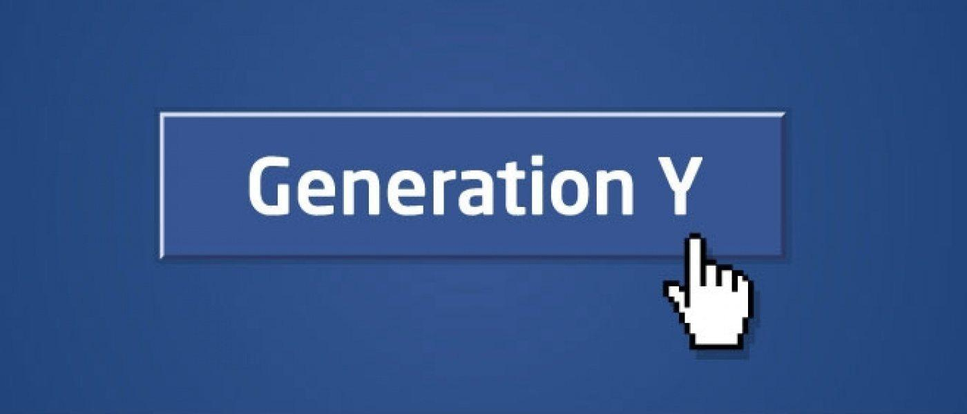 Mouse cursor clicking on a 'Generation Y' button