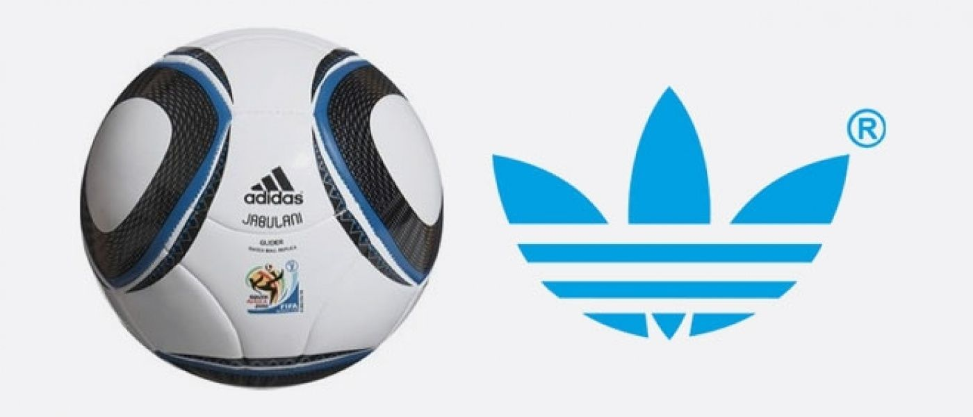 Adidas logo on the official World Cup football