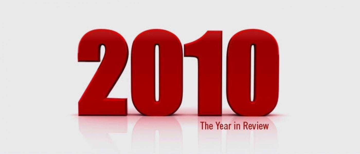 The words '2010 The Year in Review'
