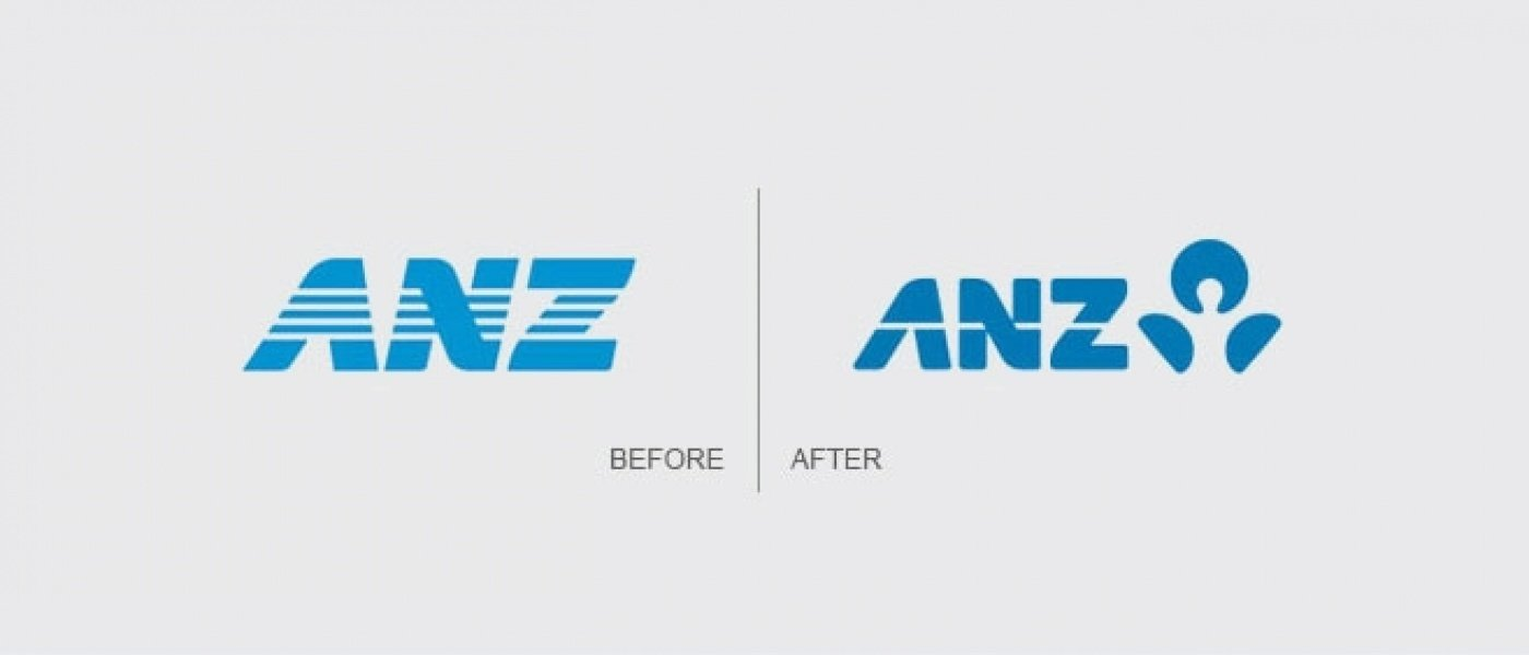 ANZ's old and new logos