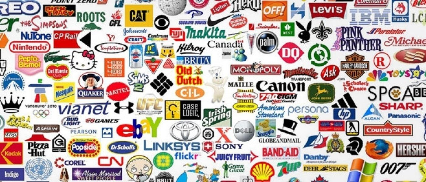 Group of famous brands' logos